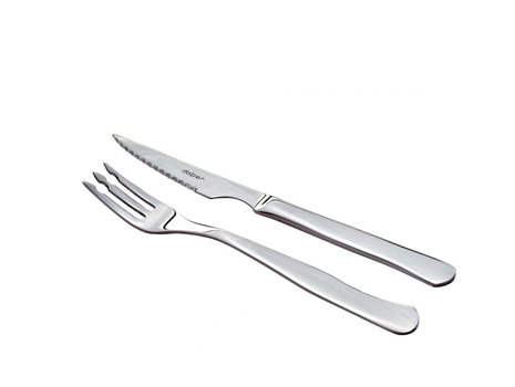 Cuchillo y tenedor chuletero inox tot catering penedes for Plato tenedor y cuchillo